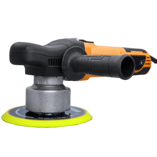 7.5 Amp Corded 6 in. Variable Speed Random Orbit Polisher Kit with Auxiliary Handles, Foam Pads and Canvas Bag