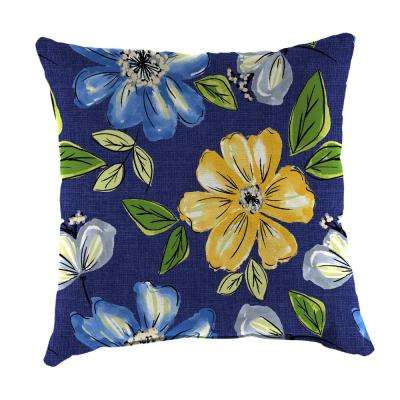 Janice Royal Square Outdoor Throw Pillow