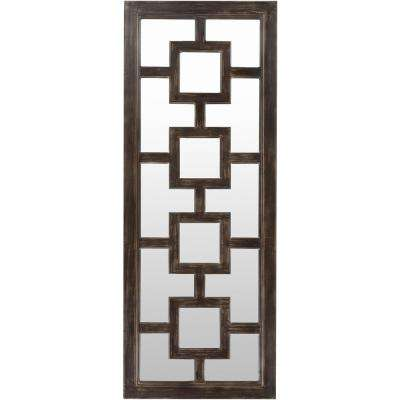 Marius 27 in. x 70 in. Contemporary Framed Mirror
