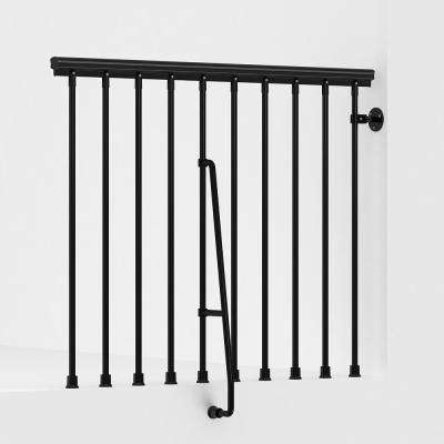 SKY030 47 in. Black Balcony Rail Kit