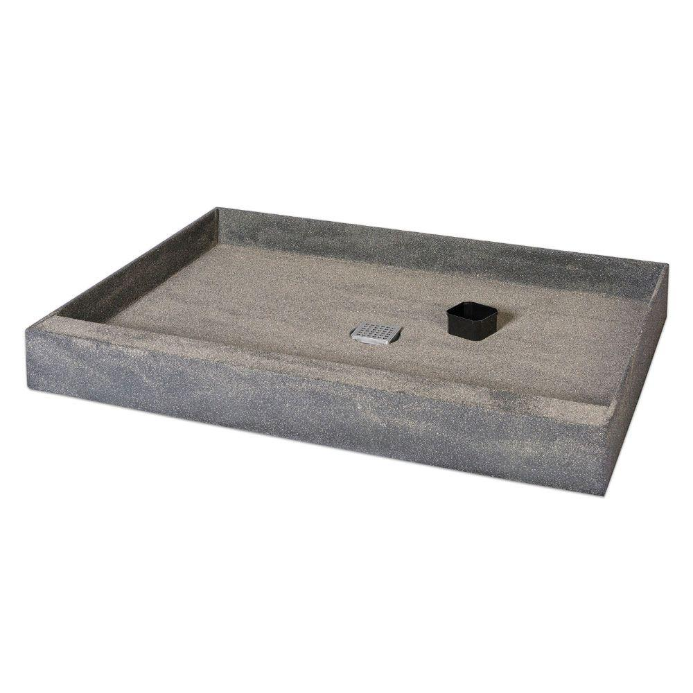 Wedi One Step 36 In X 60 Shower Base With Center Drain