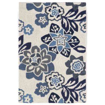 Sinclair Botanical Blue 2 ft. x 3 ft. Indoor/Outdoor Area Rug