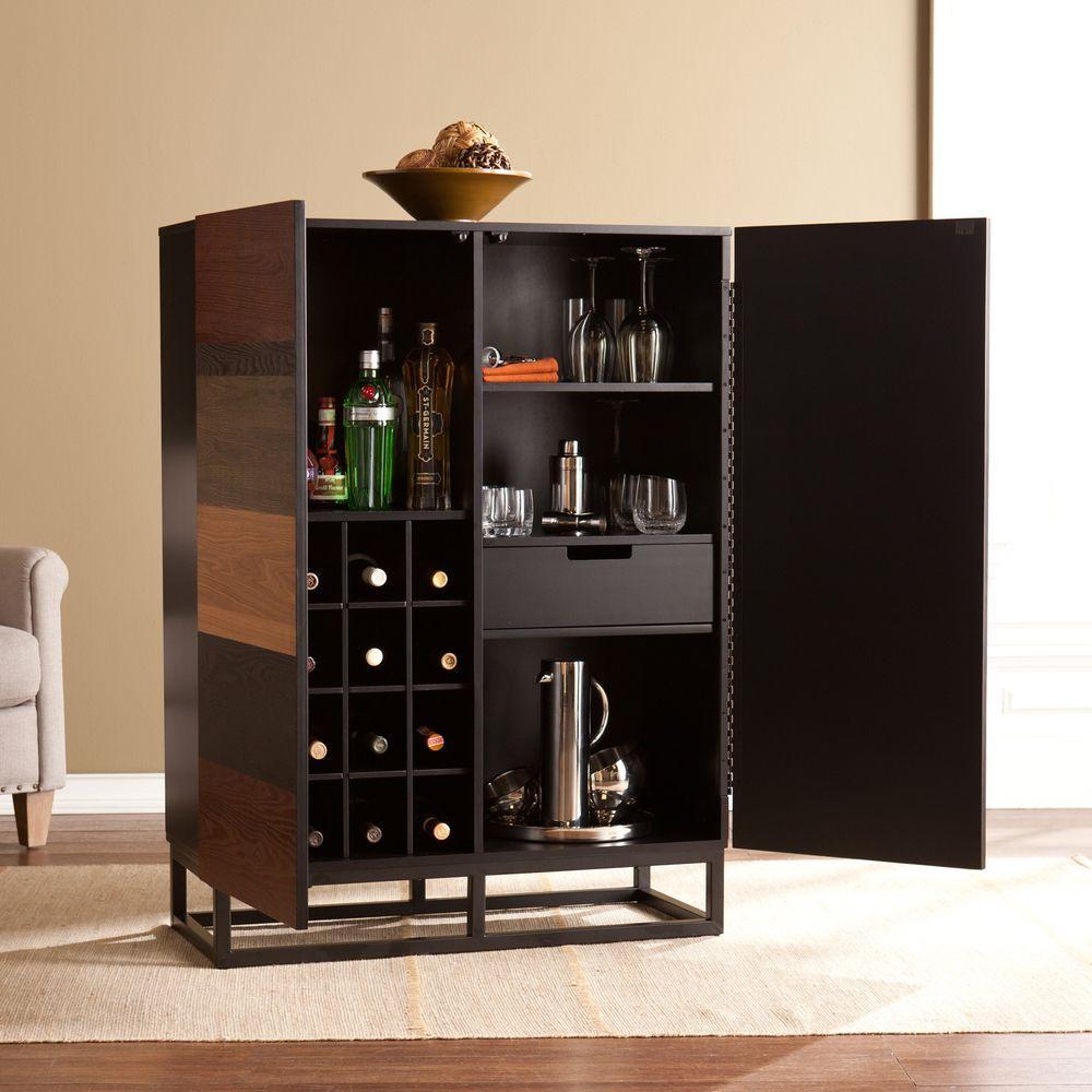 Jeremine Black and Multi-Tonal Wood Bar