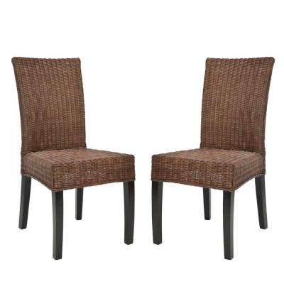 Grayton Dark Brown Side Chair (Set of 2)