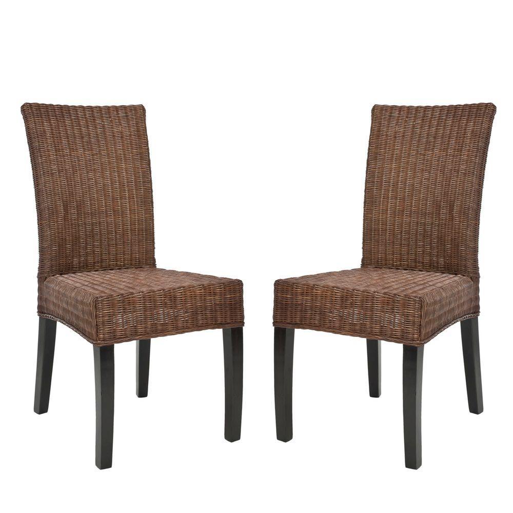 Safavieh Grayton Dark Brown Side Chair (Set of 2)
