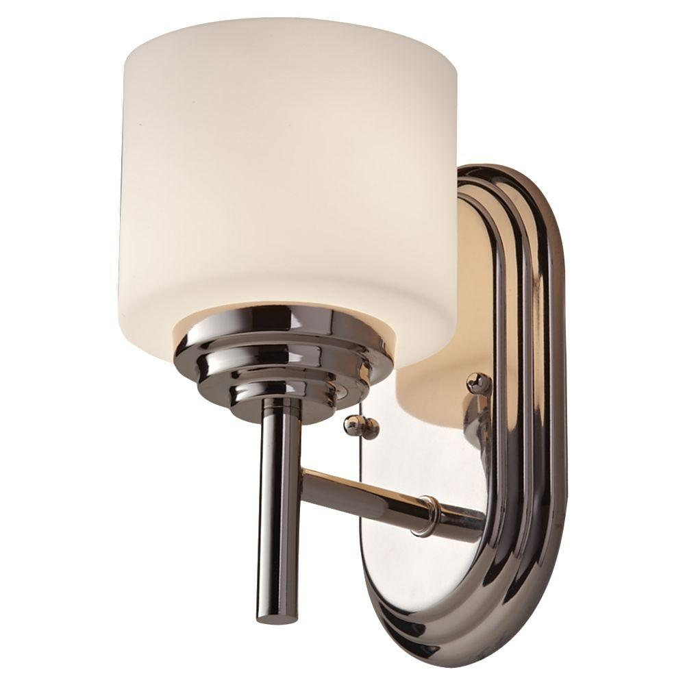 Malibu 1-Light Polished Nickel Vanity Light