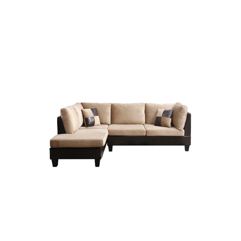 Tremendous Microfiber Brown Sectionals Living Room Furniture Uwap Interior Chair Design Uwaporg