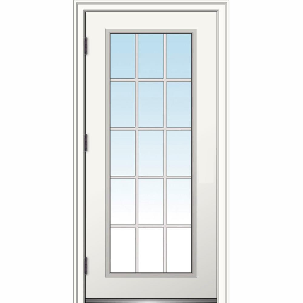 MMI Door 30 In. X 80 In. Classic Right-Hand Outswing 15