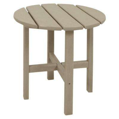 Classics 18 in. Sand Round Patio Side Table