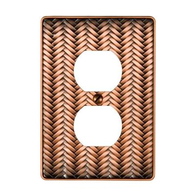 Copper 1-Gang Duplex Outlet Wall Plate (1-Pack)