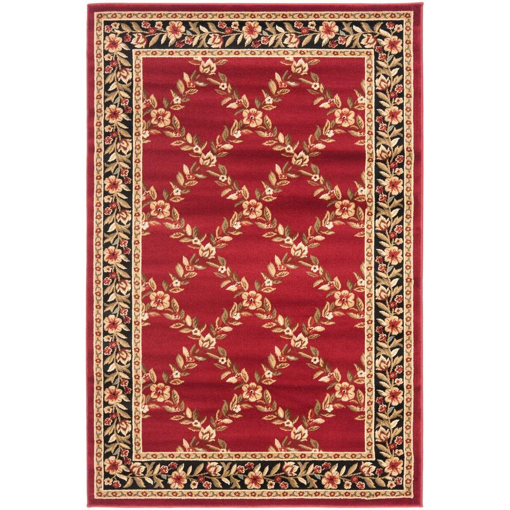 Safavieh Lyndhurst Red/Black 3 ft. 3 in. x 5 ft. 3 in. Area Rug
