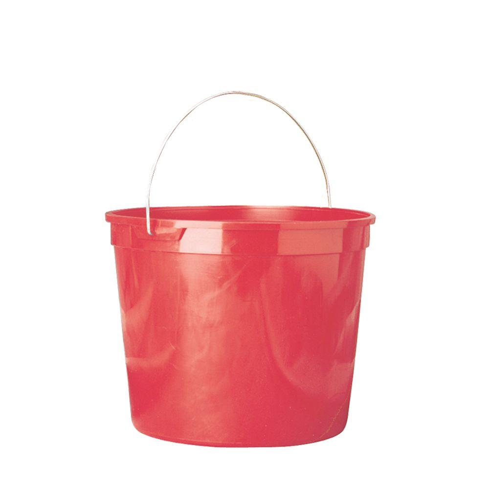 5-Qt. Red Polysteel Rim Plastic Pail (Pack of 3)