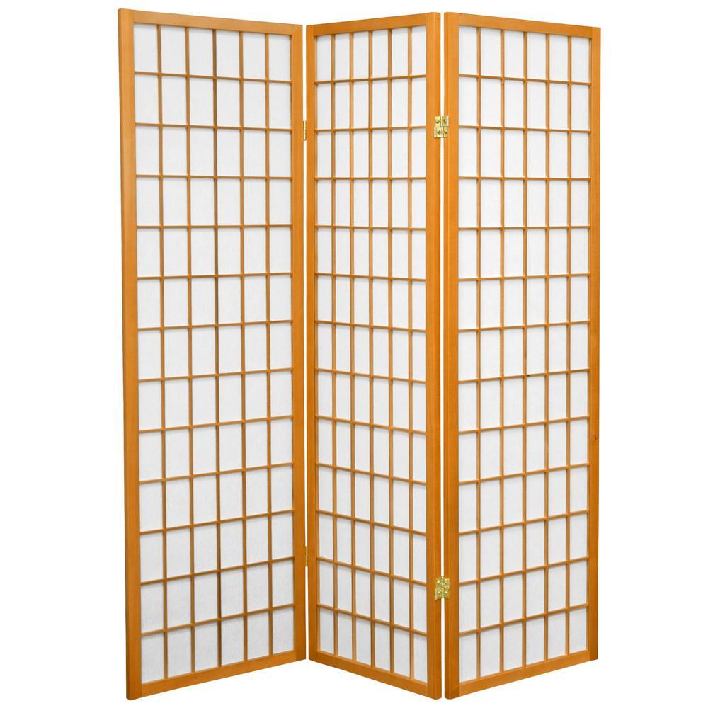 5 ft. Honey 3-Panel Room Divider