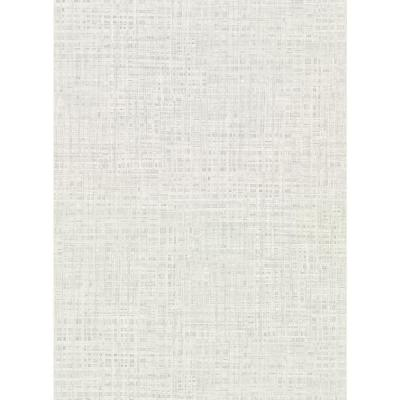 60.8 sq. ft. Montgomery Off-White Faux Grasscloth Wallpaper