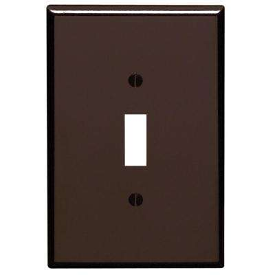 1-Gang 1-Toggle Oversized Plastic Wall Plate, Brown