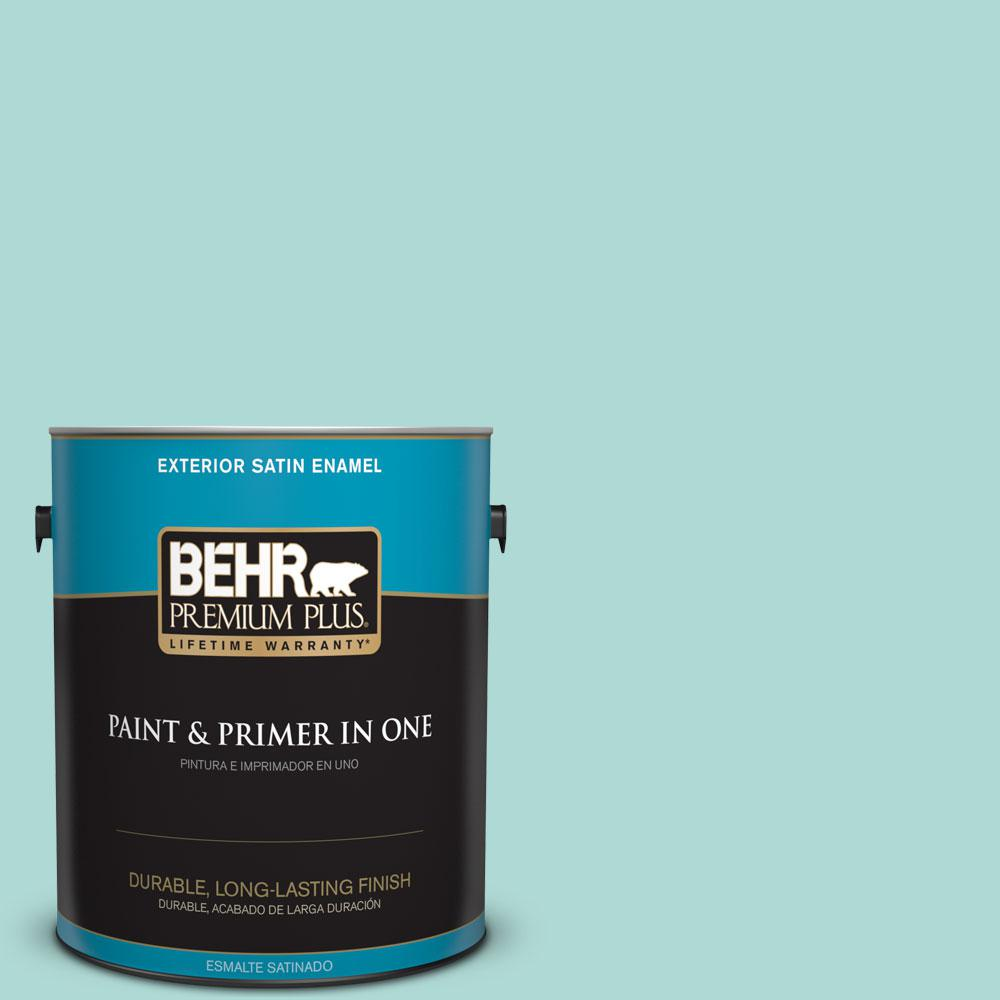1-gal. #M450-3 Wave Top Satin Enamel Exterior Paint