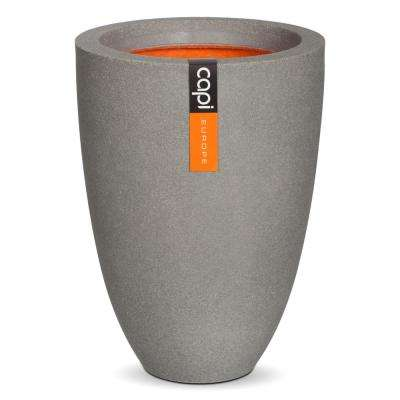 18.50 in. x 18.50 in. x 14.17 in. Grey Polyurethane Elegant Smooth Vase
