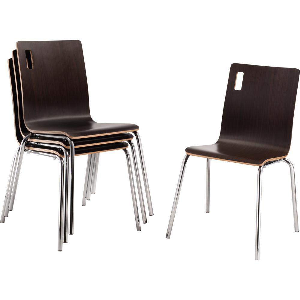 Espresso Bushwick Cafe Chair (Pack of 4)