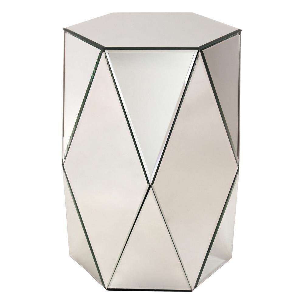 Sienna Mirrored Pedestal Table