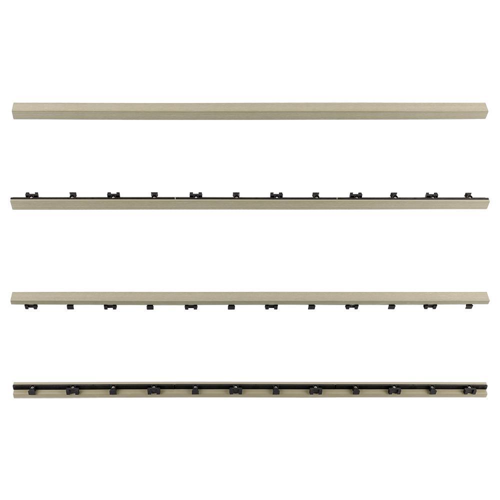 1/6 ft. x 3 ft. Quick Deck Composite Deck Tile Straight Fascia in Roman Antique (2-Pieces/Box)