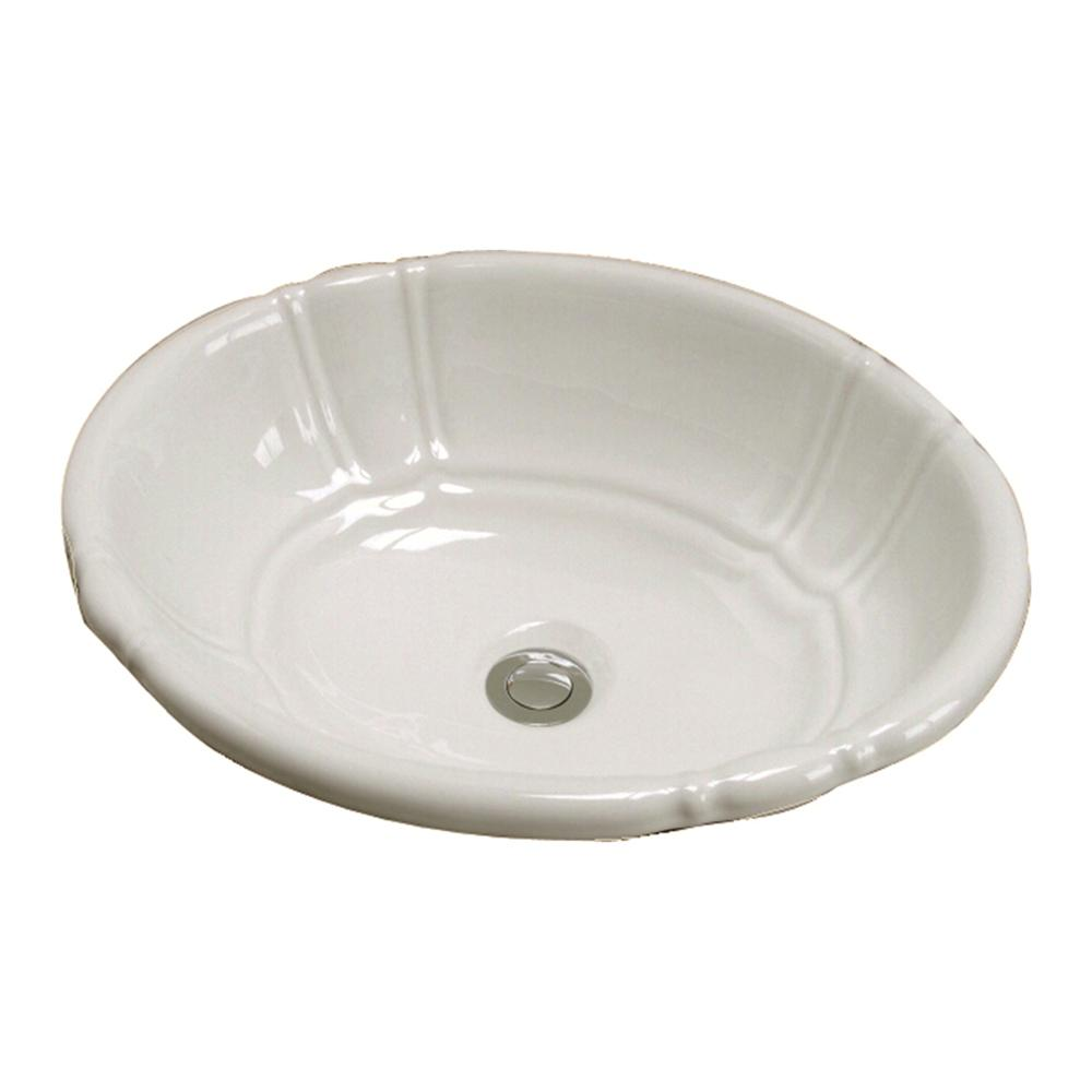 Barclay Lisbon 17.37 in. Drop-In Bathroom Sink in Bisque