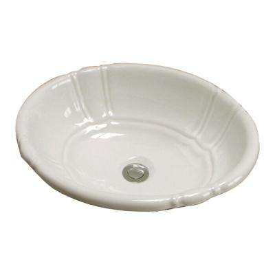 Lisbon 17.37 in. Drop-In Bathroom Sink in Bisque