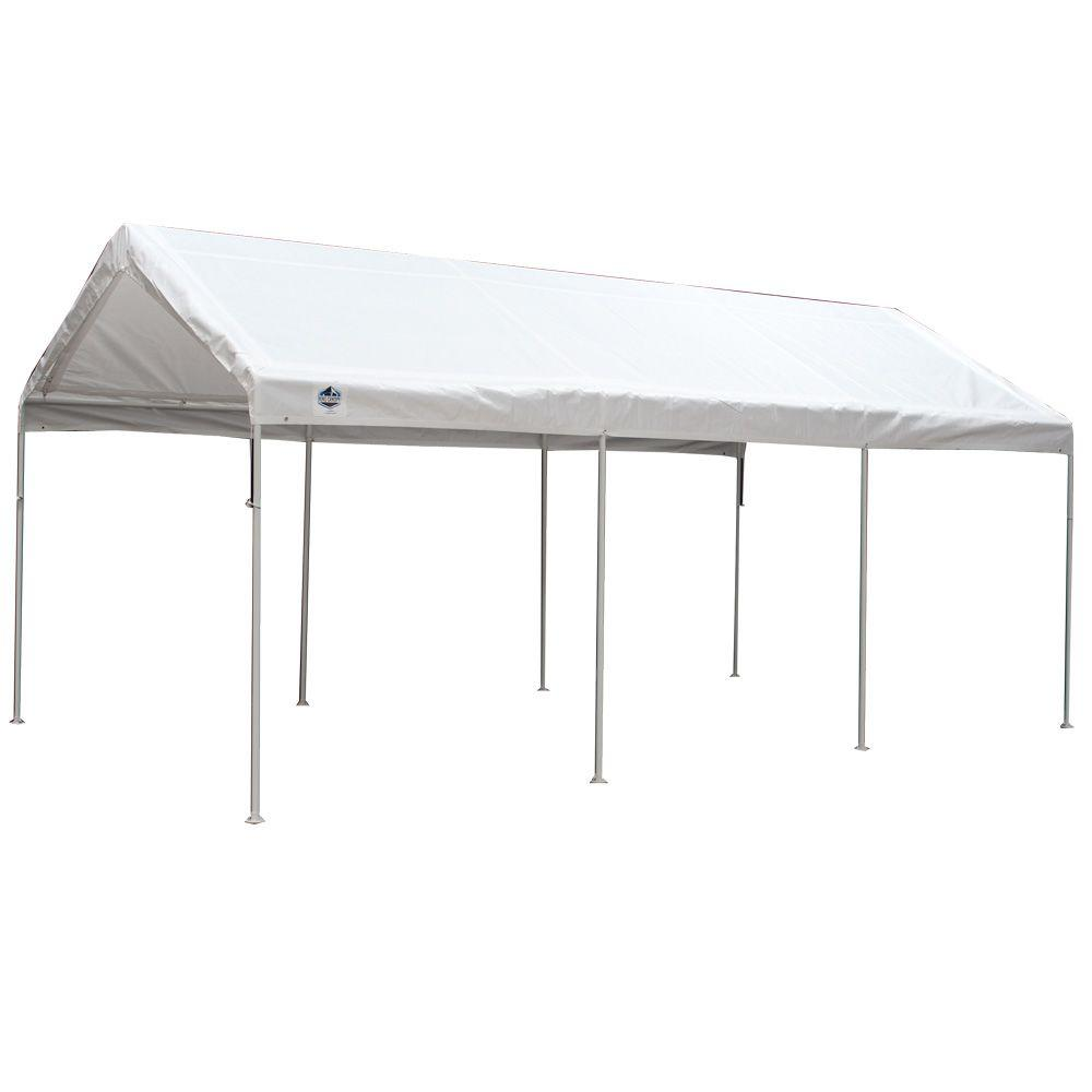 D 8-Leg Universal Canopy in White  sc 1 st  The Home Depot & Portable Garages u0026 Car Canopies - Carports u0026 Garages - The Home Depot