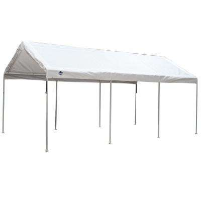 10 ft. W x 20 ft. D 8-Leg Universal Canopy in White
