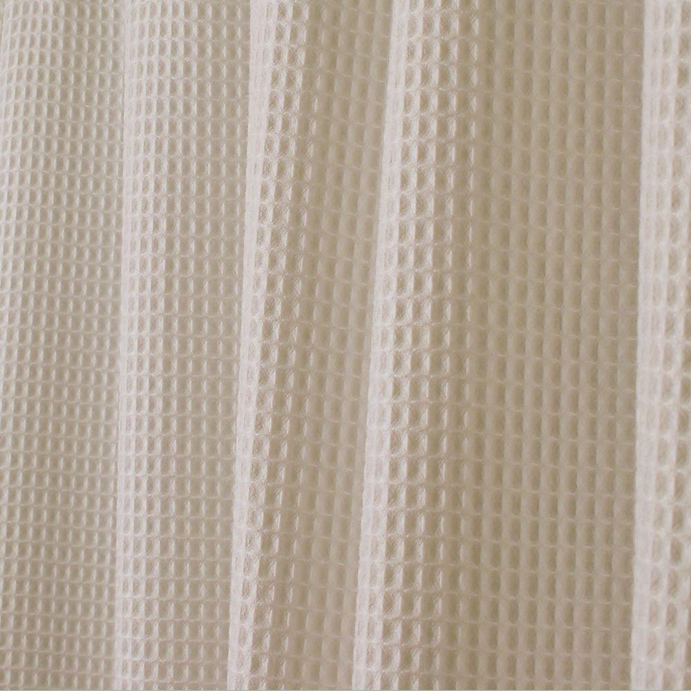 ideas size weave curtain waffle x design curtains throughout cotton white shower
