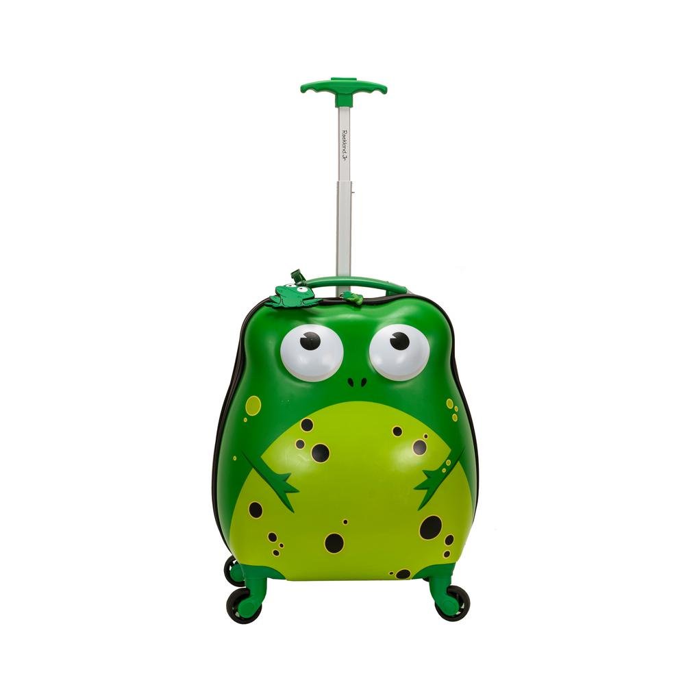 Rockland 17 in. Jr. Kids' My First Polycarbonate Hardside Spinner Luggage, Frog