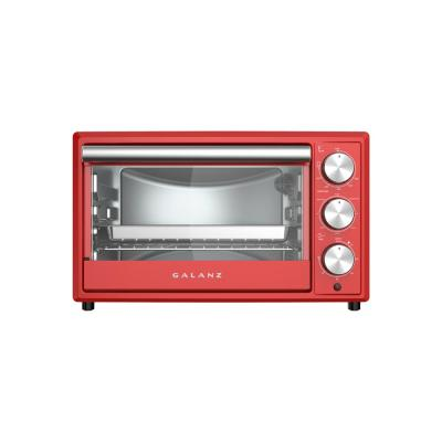 Galanz 0.9 Cu.Ft Retro Hot Rod Red Toaster Oven