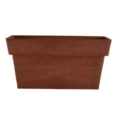 Stark 32 in. x 13 in. x 14 in. Terra Cotta PSW Window Box