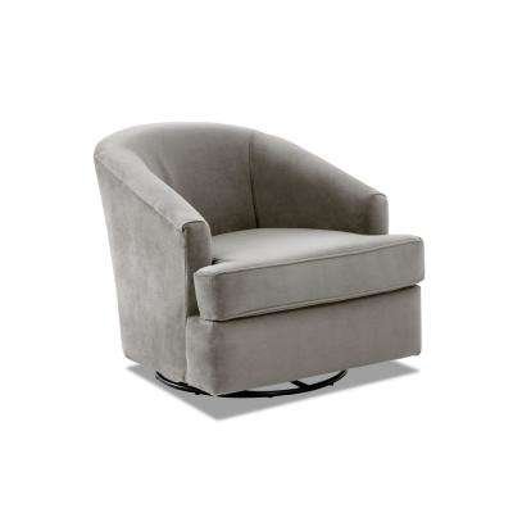 Lamar Swivel Gliding Otter Accent Chair
