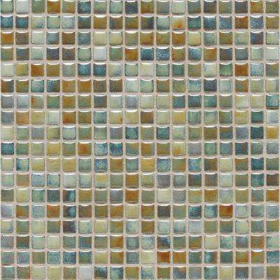 Fashion Accents Lake 12 in. x 12 in. x 8 mm Porcelain Mosaic Wall Tile