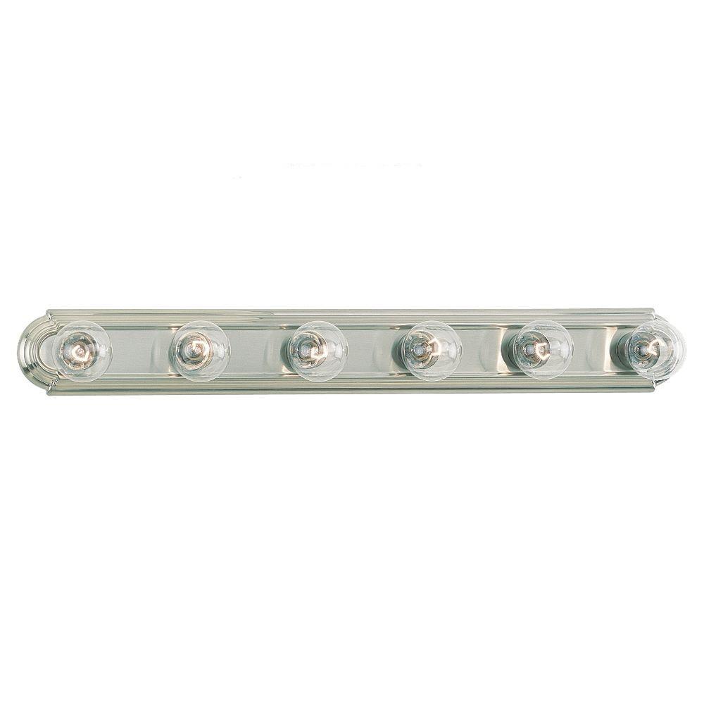 De-Lovely 6-Light Brushed Nickel Vanity Bar Light
