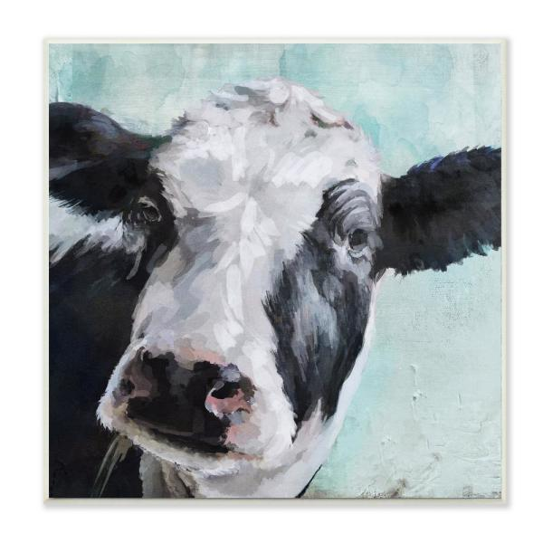 Stupell Industries 12 in. x 12 in. ''Gentle Farm Cow Painting