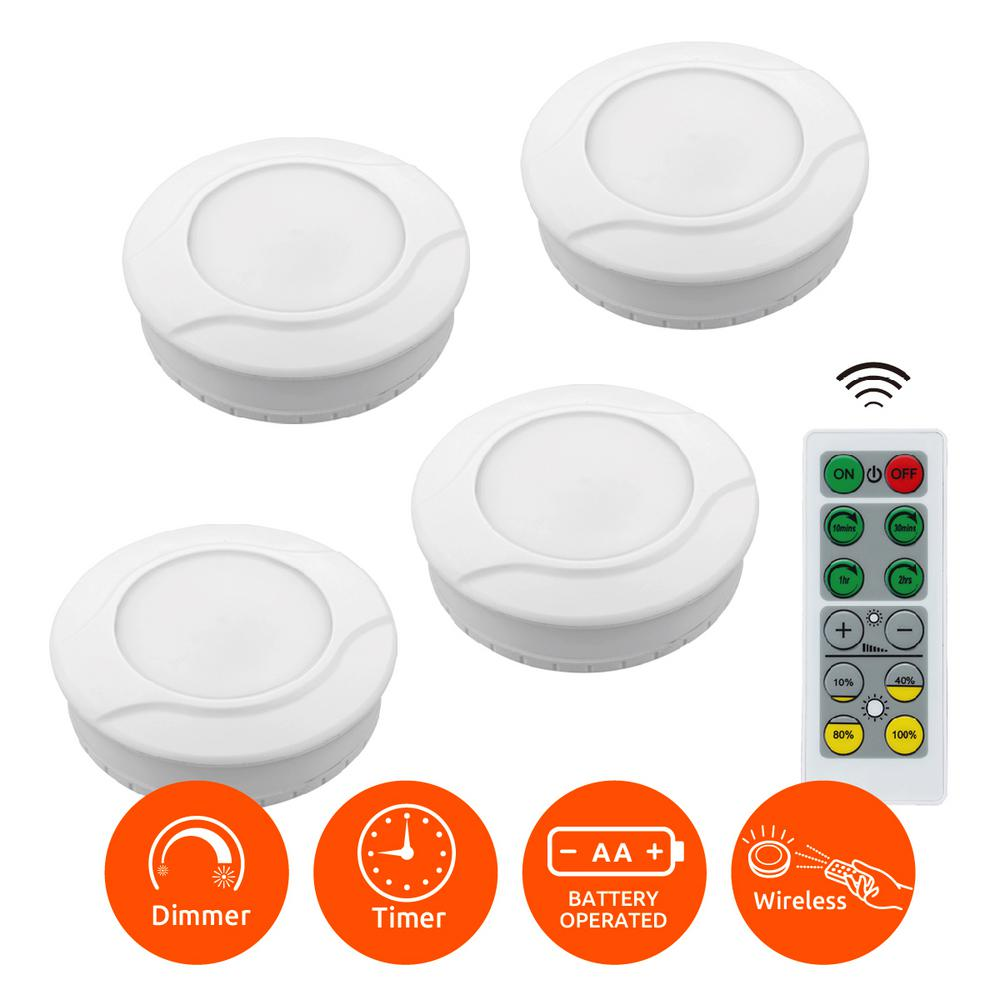 Link2home Wireless Bright Battery Powered Safety Led Puck Lights