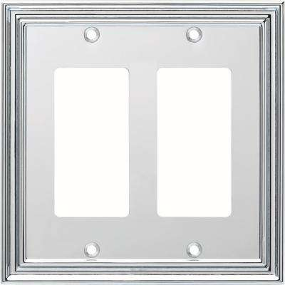 Silverton 2-Gang Decorator, Polished Chrome
