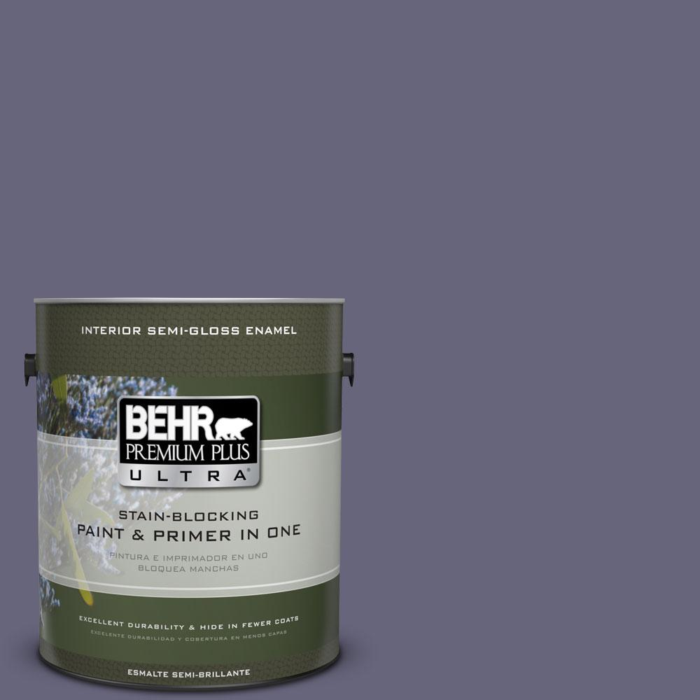 BEHR Premium Plus Ultra 1-gal. #640F-6 Enchanted Evening Semi-Gloss Enamel Interior Paint