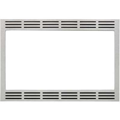27 in. Wide Trim Kit for Panasonic's 2.2 cu. ft. Microwave Ovens in Stainless Steel