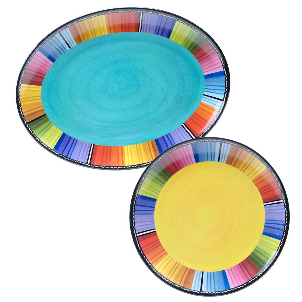2-Piece Serape Platter Set