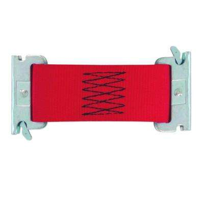 6 in. x 2 in. x Multi-Use Logistic E-Strap Dolly Connector in Red