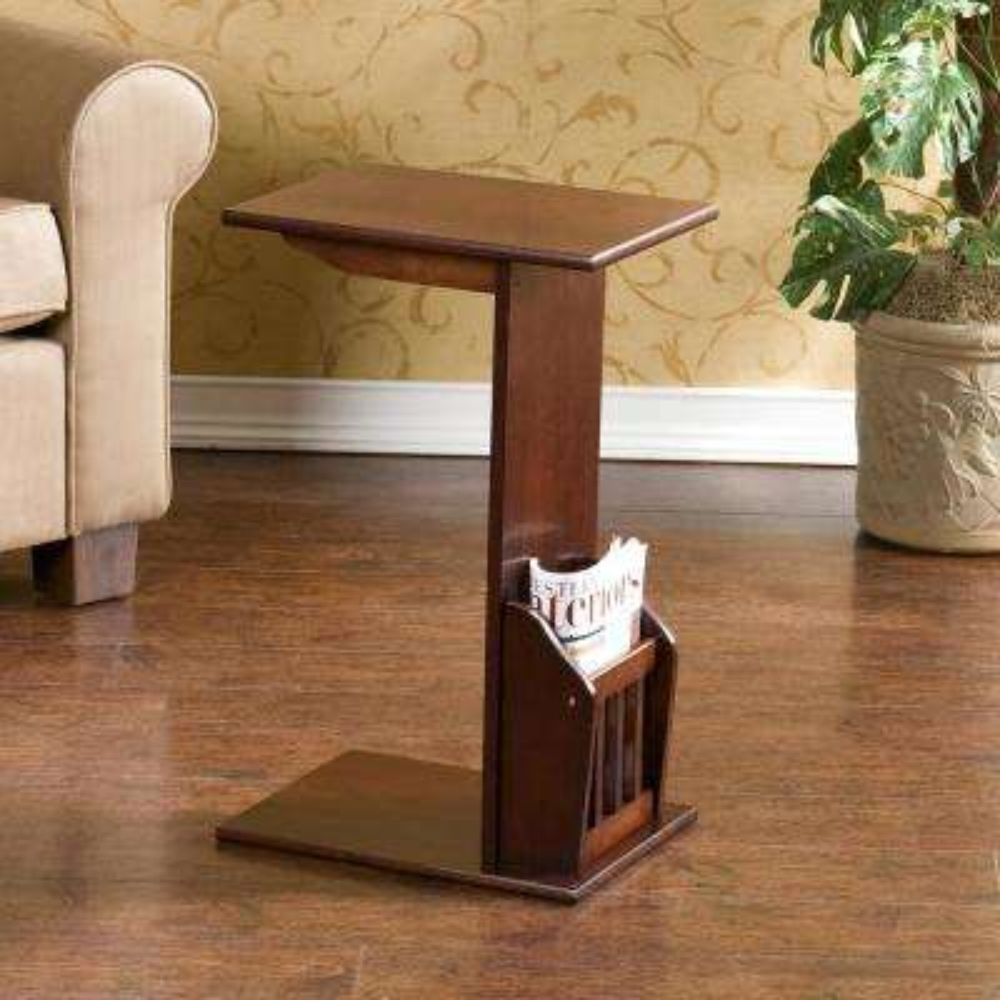Espresso Storage End Table