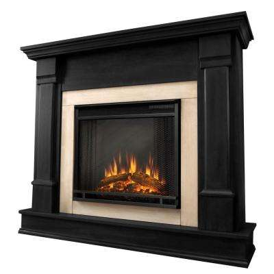 Silverton 48 in. Electric Fireplace in Black