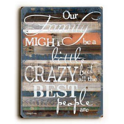 """9 in. x 12 in. """"Our Family"""" by Misty Diller """"Solid Wood"""" Wall Art"""