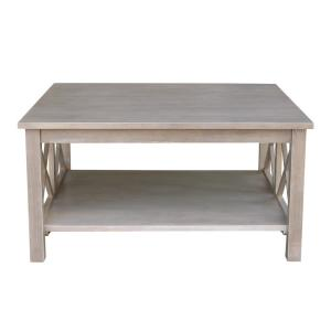 e7bac36a47be International Concepts Hampton Weathered Taupe Gray Coffee Table ...