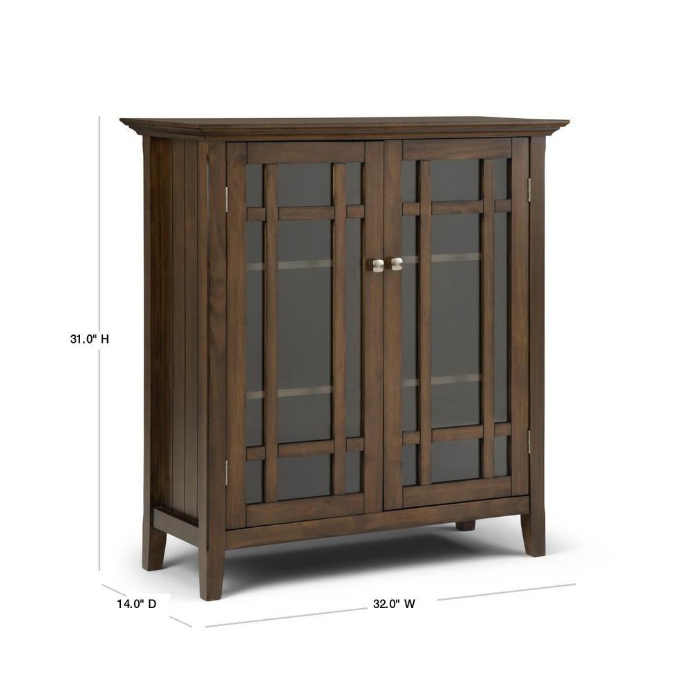 Simpli Home 32 In Bedford Rustic, Rustic Storage Cabinets