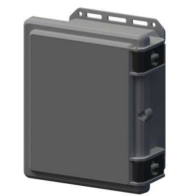11.8 in. L x 10.2 in. W x 5.5 in. H Polycarbonate Gray Hinged Top Cabinet Enclosure with Gray Bottom