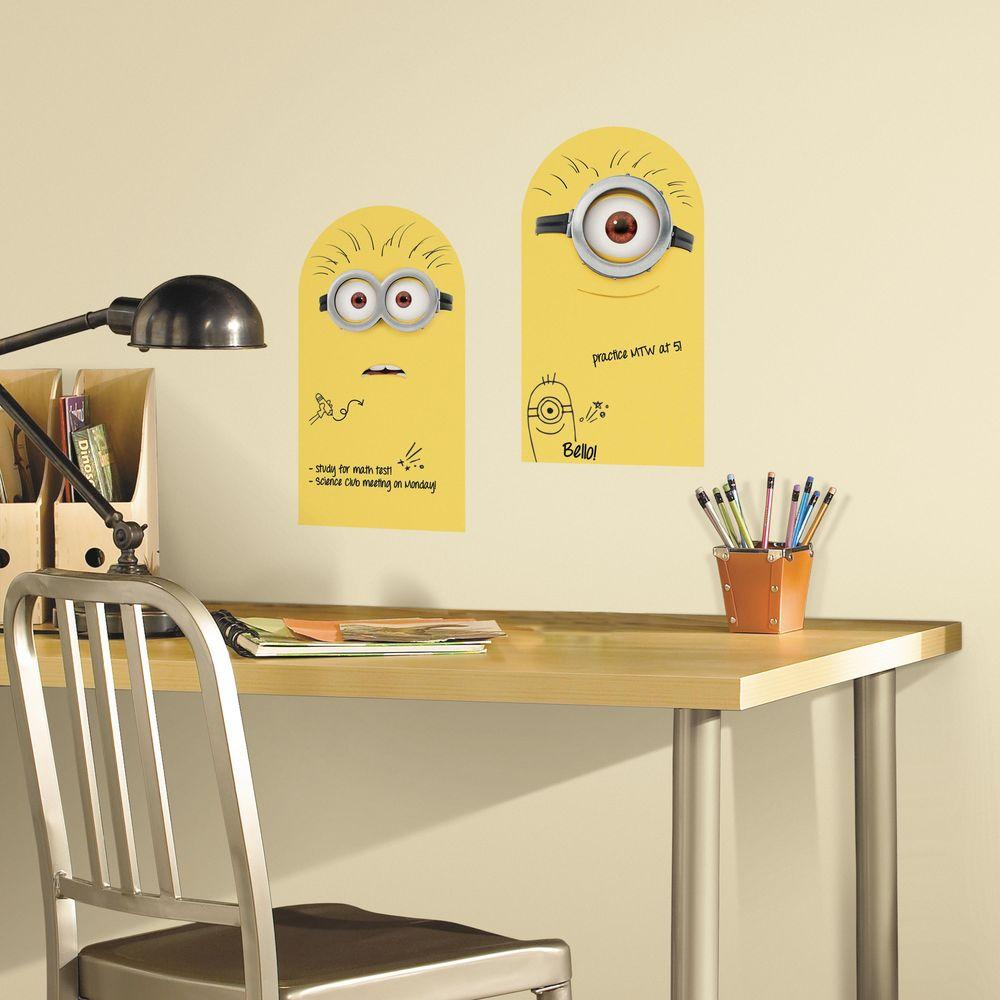 RoomMates 5 in. x 11.5 in. Minion Dry Erase Peel and Stick Wall ...
