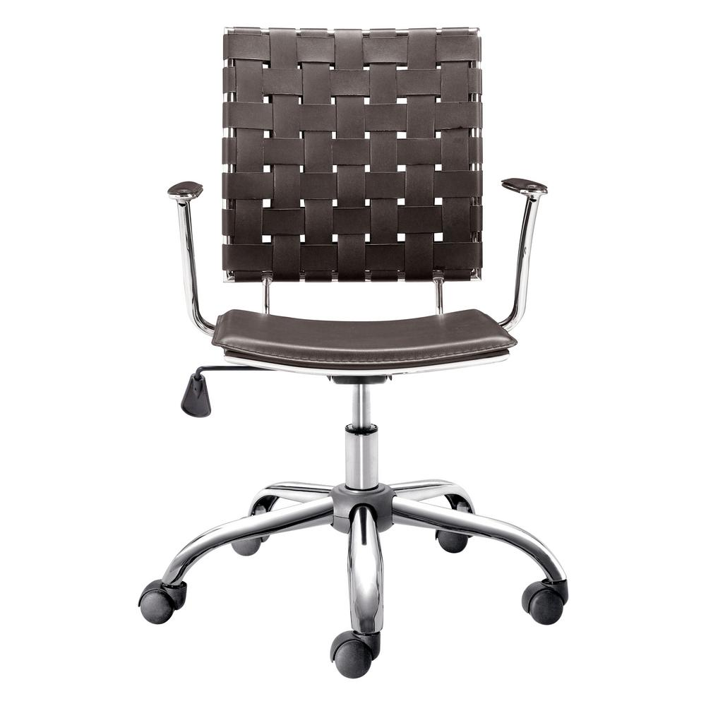 ZUO Criss Cross Espresso Office Chair-205032 - The Home Depot
